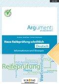 Neue Reifeprüfung schriftlich - Deutsch