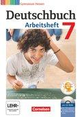 Deutschbuch, Gymnasium Hessen: 7. Schuljahr, Arbeitsheft m. Übungs-CD-ROM