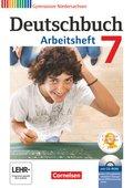 Deutschbuch, Gymnasium Niedersachsen: 7. Schuljahr, Arbeitsheft m. Übungs-CD-ROM