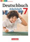 Deutschbuch, Gymnasium Allgemeine Ausgabe, Neubearbeitung 2012: 7. Schuljahr, Arbeitsheft
