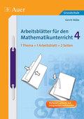 Arbeitsblätter für den Mathematikunterricht (Grundschule): 4. Schuljahr; Tl.4
