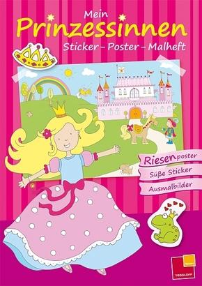 Mein Sticker-Poster-Malheft - Prinzessinnen