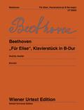 """""""Für Elise"""" WoO 59 und Klavierstück in B-Dur WoO 60, Klavier"""