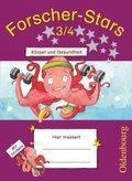 Forscher-Stars: 3./4. Schuljahr, Körper und Gesundheit (mit Lösungsheft)