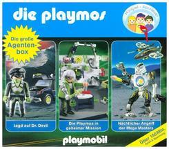 Die Playmos - Die Playmos - Die große Agenten-Box, 3 Audio-CDs