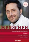 Menschen - Deutsch als Fremdsprache: Glossar Deutsch-Italienisch / Tedesco-Italiano; Bd.A2