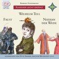 Klassiker leicht erzählt - 3er-Box: Faust, Wilhelm Tell, Nathan der Weise, 3 Audio-CDs