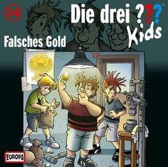 Die drei ???-Kids - Falsches Gold, 1 Audio-CD