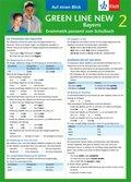 Green Line New, Ausgabe für Bayern: Auf einen Blick: Grammatik passend zum Schulbuch; Bd.2