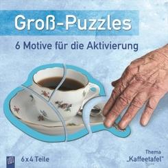 """Groß-Puzzles: 6 Motive für die Aktivierung von Demenzkranken, Thema """"Kaffeetafel"""""""