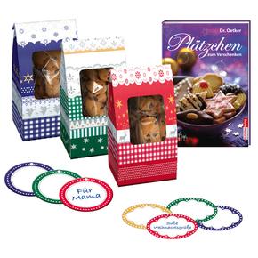 Dr. Oetker Plätzchen zum Verschenken (Set mit Geschenktüten, Etiketten und Anhängern) - Oetker