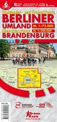 Radwander- und Freizeitkarte Berliner Umland und Übersichtskarte Brandenburg