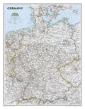 National Geographic Map Germany,  Politival Map, laminiert, Planokarte