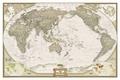 National Geographic Map Executive World, Pacific Centered, enlarged, Planokarte