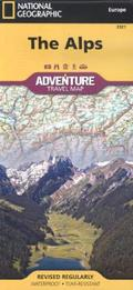 National Geographic Adventure Travel Map Alps