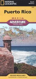 National Geographic Adventure Travel Map Puerto Rico