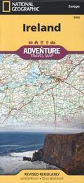 National Geographic Adventure Travel Map Ireland