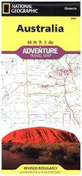 National Geographic Adventure Travel Map Australia