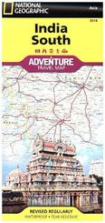 National Geographic Adventure Travel Map India South