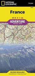 National Geographic Adventure Travel Map France