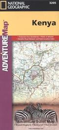 National Geographic Adventure Travel Map Kenya