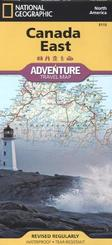 National Geographic Adventure Travel Map Canada East