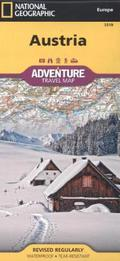 National Geographic Adventure Travel Map Austria