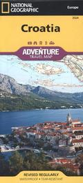 National Geographic Adventure Travel Map Croatia