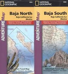 National Geographic Adventure Travel Map Baja Map Pack, 2 Bl.