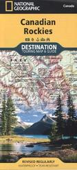 National Geographic Destination Touring Map & Guide Canadian Rockies