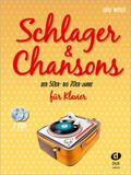 Schlager & Chansons der 50er - bis 70er Jahre, für Klavier, m. 2 Audio-CDs
