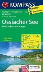 KOMPASS Wanderkarte Ossiacher See, Feldkirchen in Kärnten