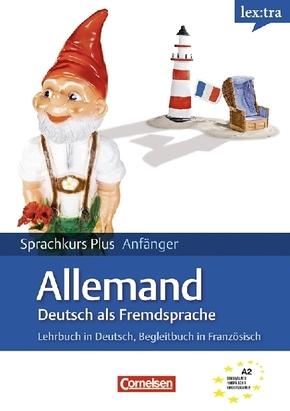 lex:tra Sprachkurs Plus Anfänger Deutsch als Fremdsprache, Lehrbuch, Begleitbuch Ausgangssprache Französisch, 2 Audio-CD