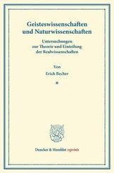 Geisteswissenschaften und Naturwissenschaften.