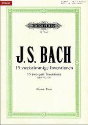 15 zweistimmige Inventionen BWV 772-786, für Klavier