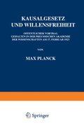 Kausalgesetz und Willensfreiheit