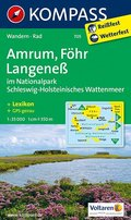 KOMPASS Wanderkarte Amrum - Föhr - Langeneß