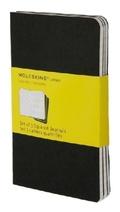 Moleskine Cahier A6, kariert, schwarz, 3er-Set