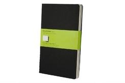 Moleskine Cahier A5, blanko, schwarz, 3er-Set