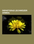 Dienstgrad (Schweizer Armee)