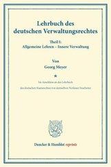 Lehrbuch des deutschen Verwaltungsrechtes.