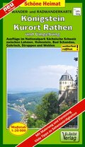 Doktor Barthel Karte Königstein, Kurort Rathen und Umgebung