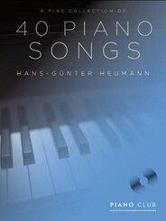 A Fine Selection of 40 Piano Songs, für Klavier, m. MP3-CD
