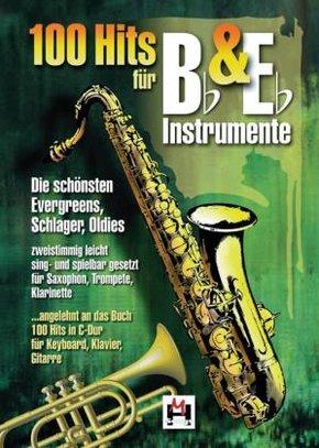 100 Hits für Bb & Eb-Instrumente, für Saxophon, Trompete, Klarinette - Bd.1