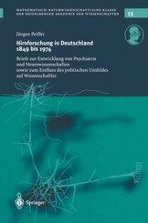 Hirnforschung in Deutschland 1849 bis 1974, 2 Tle.