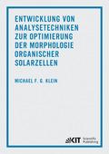 Entwicklung von Analysetechniken zur Optimierung der Morphologie organischer Solarzellen