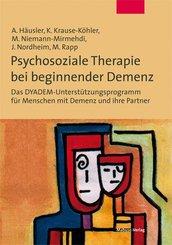 Psychosoziale Therapie bei beginnender Demenz