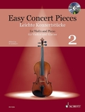 Easy Concert Pieces, für Violine und Klavier, m. Audio-CD - Bd.2