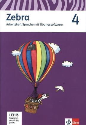 Zebra, Ausgabe ab 2011: 4. Schuljahr, Arbeitsheft Sprache mit CD-ROM