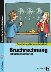 Bruchrechnung - Inklusionsmaterial, m. CD-ROM